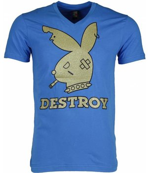 Mascherano T Shirt Herren - Destroy - Blau