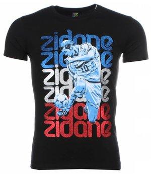 Mascherano T Shirt Herren - Zidane Print - Schwarz
