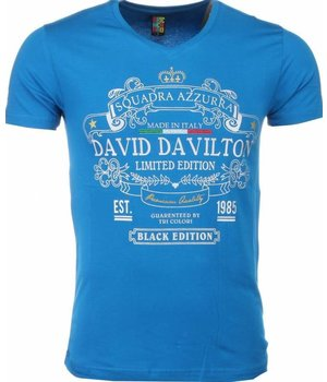 Mascherano T Shirt Herren - Black Edition Print - Blau