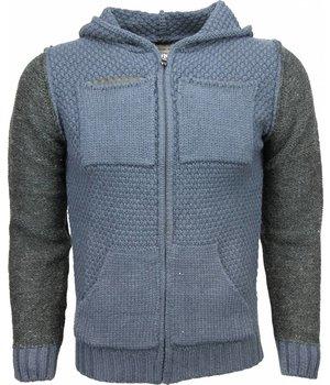 Enos Sweatjacke - Herren-pullover - Wolle - Blau