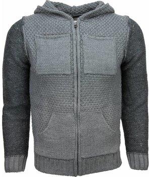 Enos Sweatjacke - Herren-pullover - Wolle - Grün
