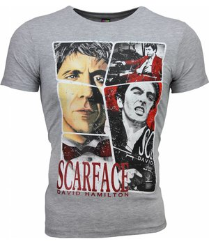 Mascherano T Shirt Herren - Scarface Frame Print - Grau