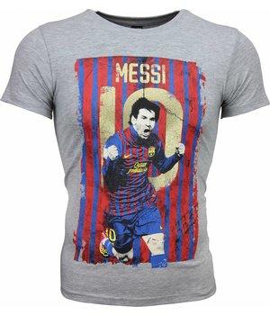Mascherano T Shirt Herren - Messi 10 Print - Grau