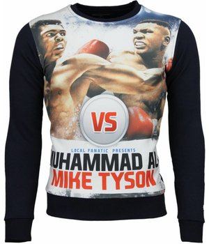 Local Fanatic Muhammad Ali vs Mike Tyson Boxing - Sweatshirt - Blau