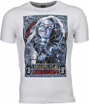 Mascherano T Shirt Herren - Chucky Poster Print - Weiß
