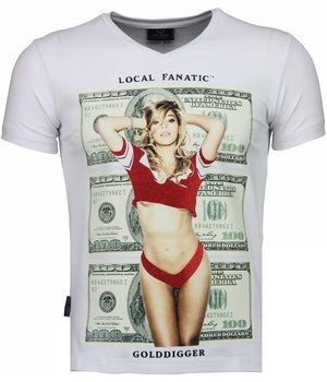 Local Fanatic Golddigger Dollar - T Shirt Herren - Weiß