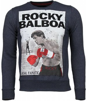 Local Fanatic Rocky Balboa - Strass Sweatshirt - Blau