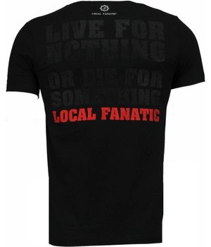 Local Fanatic Rambo - Strass T Shirt Herren - Schwarz