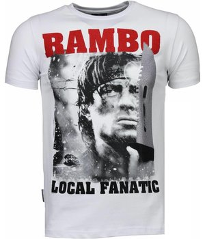 Local Fanatic Rambo - Strass T Shirt Herren - Weiß