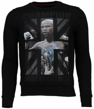 Local Fanatic Mayweather - Strass Sweatshirt - Schwarz