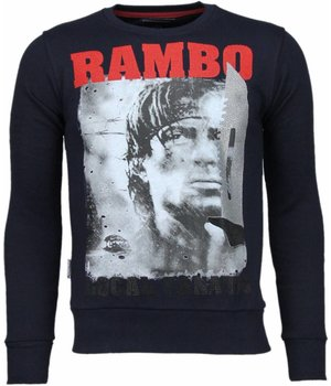 Local Fanatic Rambo - strass Sweatshirt - Marine