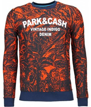 Black Number Park&Cash - Sweatshirt - Orange