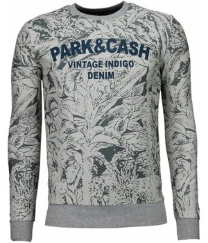 Black Number Park&Cash - Sweatshirt- Grau