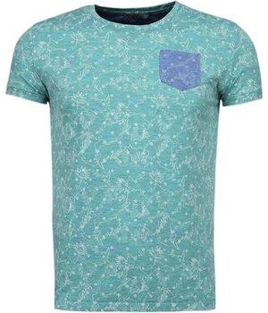 Black Number blättern Motiv Sommer - T Shirt Herren - Grün