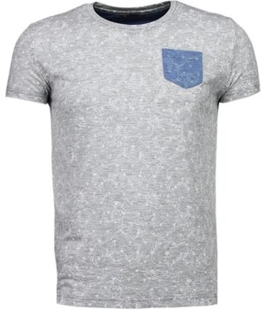 Black Number blättern Motiv Sommer - T Shirt Herren - Grau