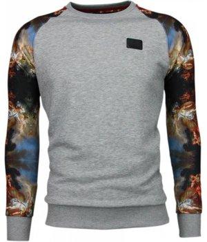 Local Fanatic Mythologie Arm Motiv - Sweatshirt - Grau