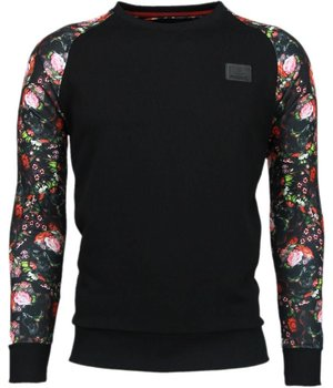 Local Fanatic Rosen Skull Arm Motiv - Sweatshirt - Schwarz