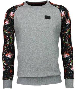 Local Fanatic Rosen Skull Arm Motiv - Sweatshirt - Grau