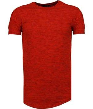 Tony Brend Ärmel Rippe- T Shirt Herren - Rot