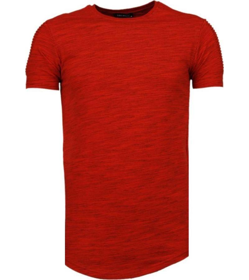 54f3273c96c6 Tony Brend Ärmel Rippe- T Shirt Herren - Rot - Styleitaly.de