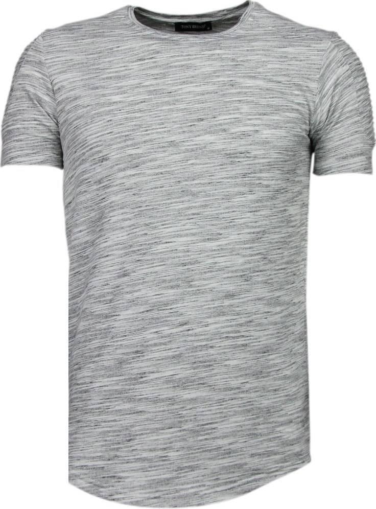 9888a2a14bf6 Tony Brend Ärmel Rippe - T Shirt Herren - Grau - Styleitaly.de