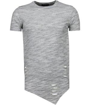 Tony Brend Long Fit - T Shirt Herren - Grau