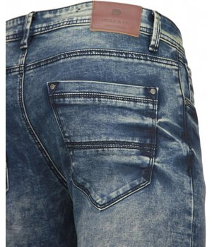 Diele & Co Herren Jeans - Slim Fit Stretch - Cloudy Blue - Blau
