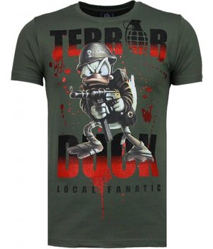 Local Fanatic Terror Duck - Strass T Shirt Herren - Grün