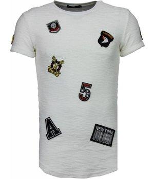 John H Military Patches No.5 - T shirt Herren - Weiß