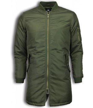 Tony Backer Winterjacken Herren Lange - Urban Bomber Jacke - Grün