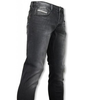 Diele & Co Exclusiv Jeans - Slim Fit Black Elagante - Schwarz