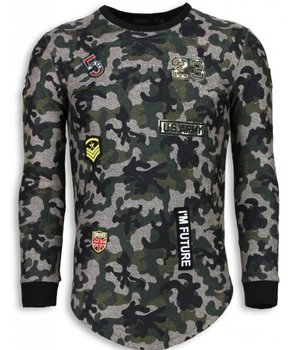 John H 23th US Army Camouflage Pullover - Long Fit Sweatshirt Herren - Grün