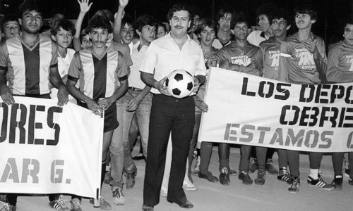 Pablo Escobar mit kinder