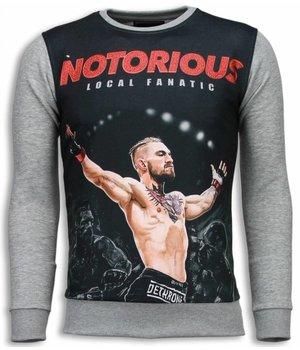 Local Fanatic Notorious McGregor - Sweatshirt - Grau