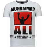 Local Fanatic Muhammad Ali - Strass T Shirt Herren - Weiß