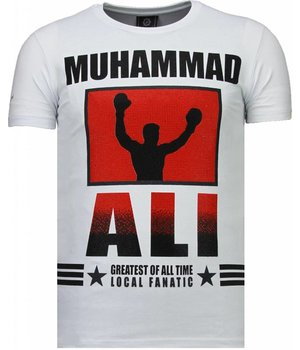 Local Fanatic Muhammad Ali - Strass T Shirt Herren - Weiß