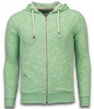 Enos Sweatjacke - Herren-pullover - Melange Zen Fleece - Grün