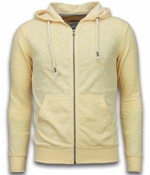 Enos Sweatjacke - Herren-pullover - Melange Zen Fleece - Gelb