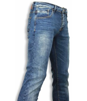 Black Ace Exclusiv Jeans - Slim Fit Regular Jeans - Blau