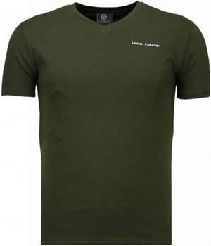 Local Fanatic Exklusiv V Neck - T-Shirt Herren - Grün