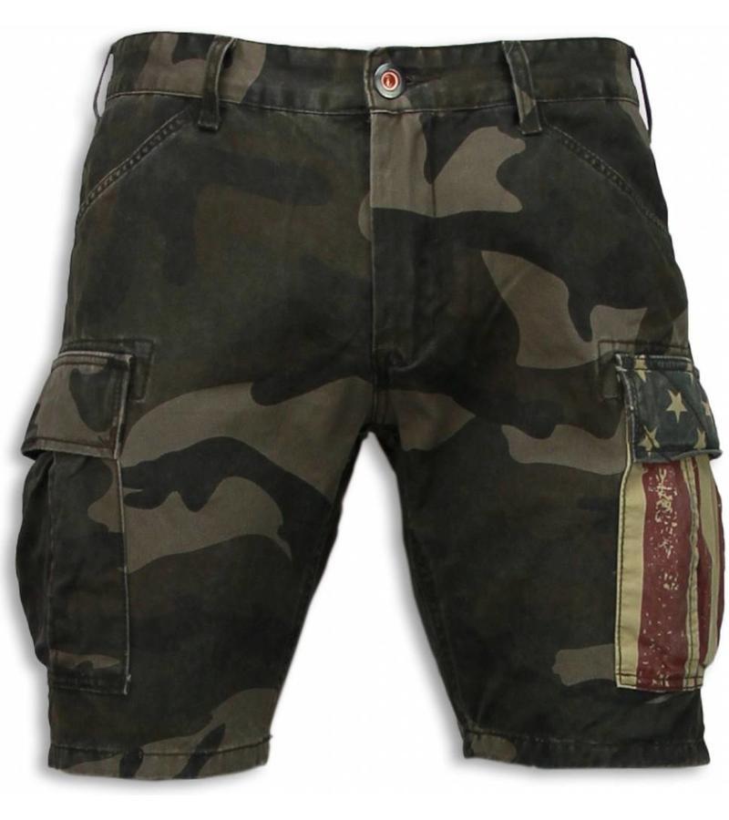 Bread & Buttons Kurze Hosen Herren - Camouflage Shorts Army - Grün