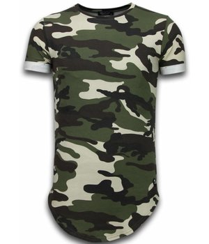 Uniplay Known Camouflage T-shirt - Long Fit Shirt Army - Grün