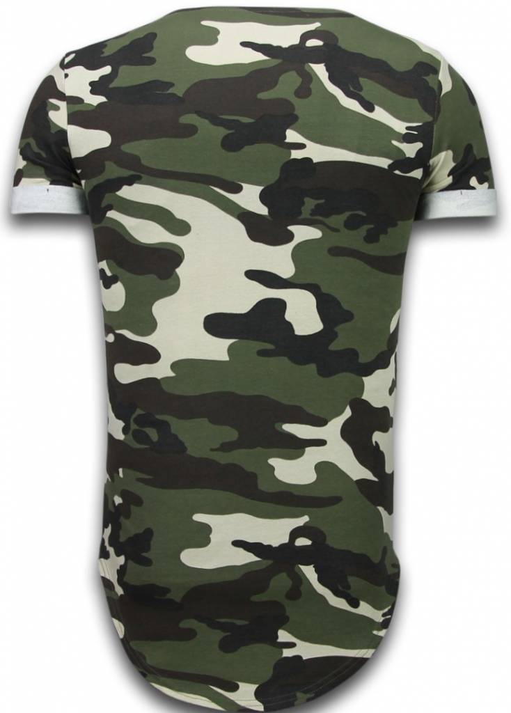uniplay known camouflage t shirt long fit shirt army gr n. Black Bedroom Furniture Sets. Home Design Ideas