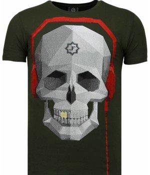 Local Fanatic Skull Bring The Beat - Strass T Shirt Herren - Grün