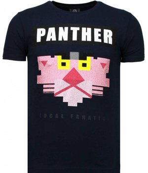 Local Fanatic Panther For A Cougar - Strass T Shirt Herren - Blau