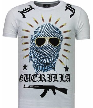 Local Fanatic Freedom Fighter - Strass T Shirt Herren - Weiß