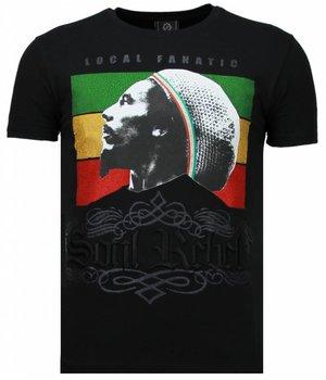 Local Fanatic Soul Rebel Bob - Strass T Shirt Herren - Schwarz