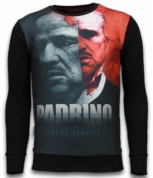 Local Fanatic El Padrino Two Faced - Sweatshirt - Schwarz