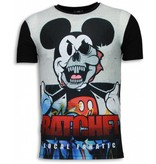 Local Fanatic Ratchet Mickey - Digital Strass T Shirt Herren - Schwarz