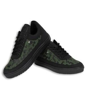 Cash Money Sneakers - Schuhe Tarnung Seite Herren - Schwarz / Grün